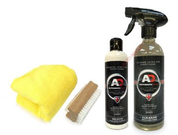Autobrite Direct - Leather Cleaner 500ml & Revive Cream 250ml Kit